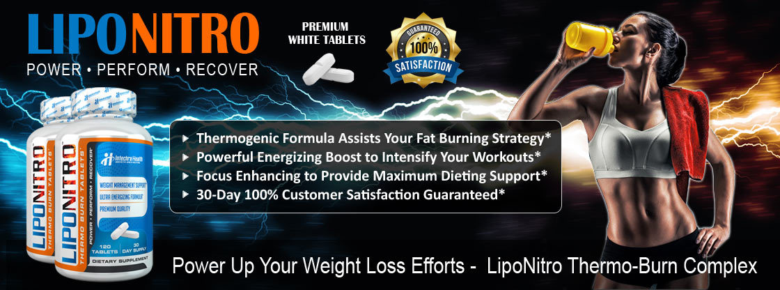 LIPONITRO thermogenic formula assists your fat-burning strategy banner