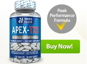 APEX-TX5 Metabolic Support Energy Enhancing Tablets with Ultra Fat Loss Catalyst