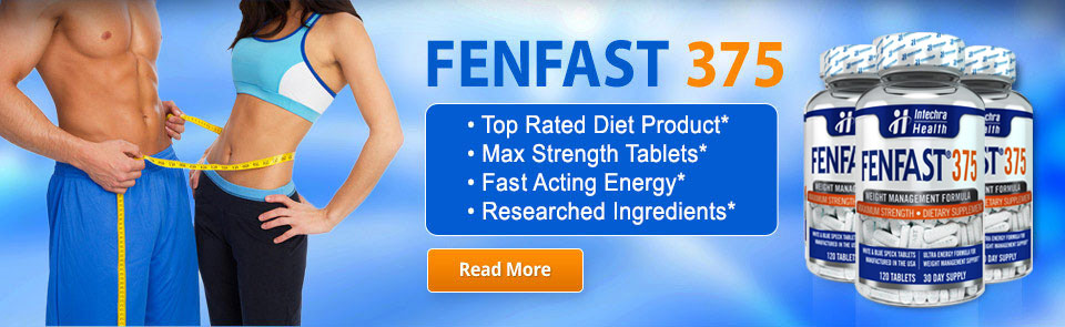 FenFast 375 appetite suppressant maximum strength tablets with fat burning formula and high energy ingredients.